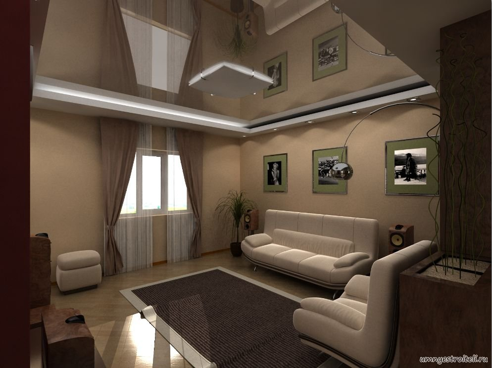 Интерьер комнаты зал