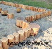 Деревянный ленточный фундамент.