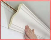 Как клеить потолочный багет