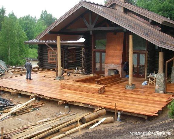 Деревянные дома с верандами фото