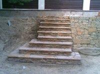 Лестница из дикого камня.