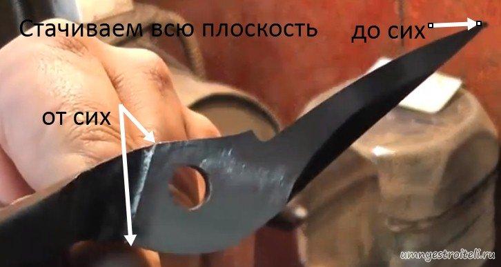 Заточить ножницы своими руками