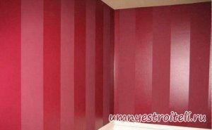 1396439015 glyancevaya i matovaya kraska na stene vmeste - Как сделать глянцевую поверхность матовой