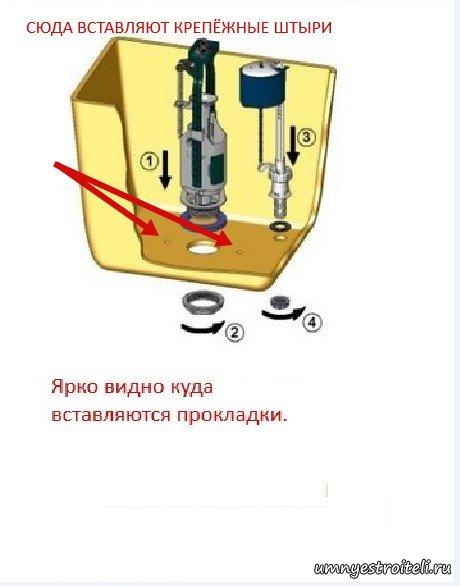 Ремонт наливного клапана унитаза своими руками 100