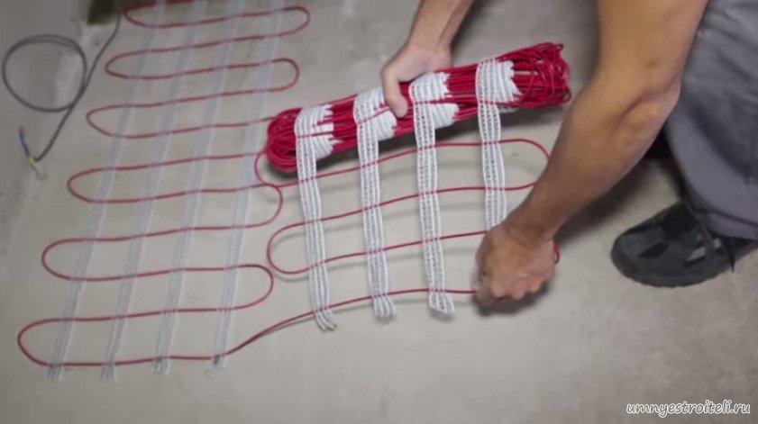Установка теплого электрического пола своими руками видео