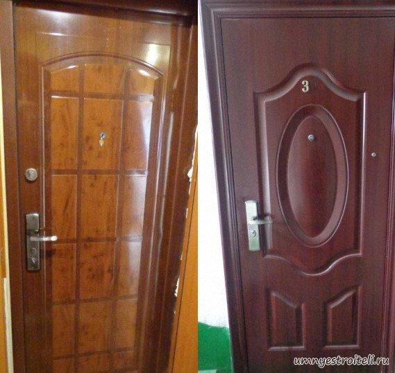 железная дверь в холле