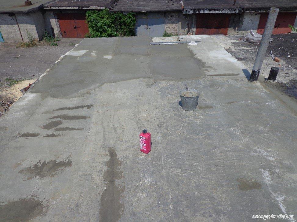 Как залить крышу гаража бетоном