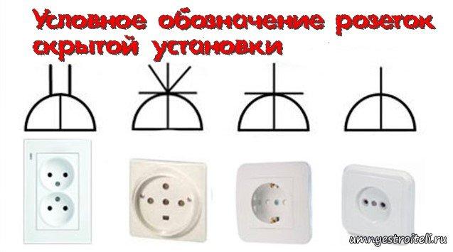 Обозначение розеток и выключателей на чертежах | электрик в доме.