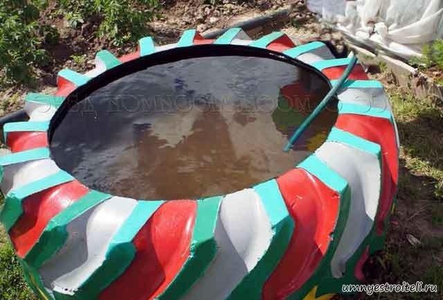 Бассейн из покрышки к 700 своими руками