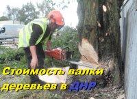 Стоимость валки деревьев.