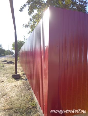 Забор из профнастила в Енакиево