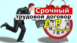 Срочный трудовой договор ДНР