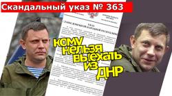 Закон ДНР о запрете выезда в Украину.