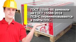 ГОСТ 15588-86 заменили на ГОСТ 15588-2014.