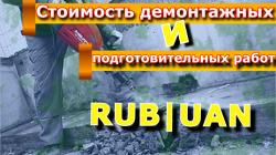 стоимость демонтажных и подготовительных работ в ДНР.