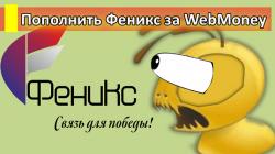 Пополнить Феникс через WebMoney.