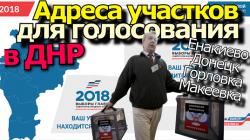 Избирательные участки в ДНР.