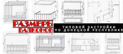 Размеры балконов, лоджий.