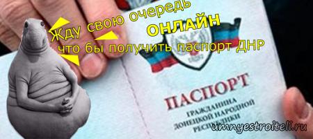 Онлайн очередь на паспорт ДНР.