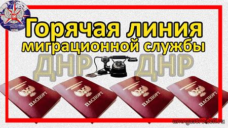 Горячая линия миграционной службы ДНР